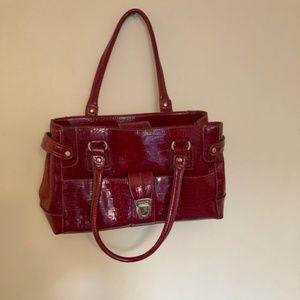 Liz Claiborne Red Pleather Bag